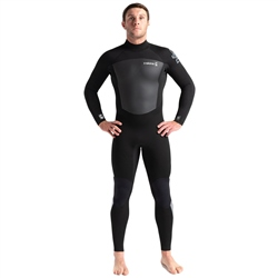 C-Skins Legend 4/3mm GBS Back Zip Wetsuit - Black & Grey (2020)