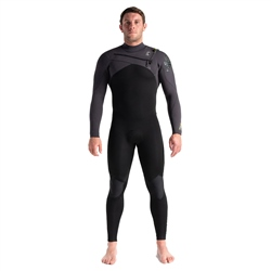 C-Skins ReWired 4/3mm GBS Chest Zip Wetsuit - Black, Meteor & Lime (2020)