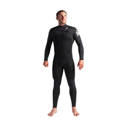 C-Skins Session 4/3mm GBS Chest Zip Wetsuit - Black, Carbon & White (2020)