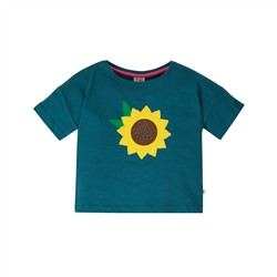 Frugi Myla T-Shirt - Blue & Sunflower