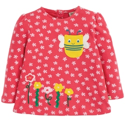 Frugi Connie Applique Top - Cherry