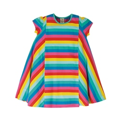 Frugi Elodie Twirly Dress - Flamingo Multi