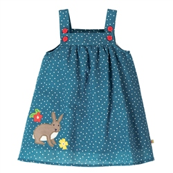 Frugi Hallie Linen Dress - Blue