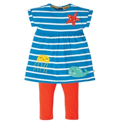 Frugi Olive Outfit - Blue & Red