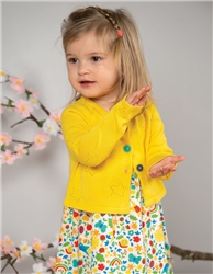 Frugi Carrie Knitted Cardigan - Sunflower