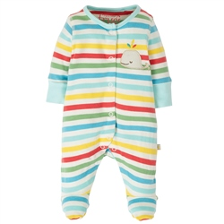 Frugi Little Applique Babygrow - Multi