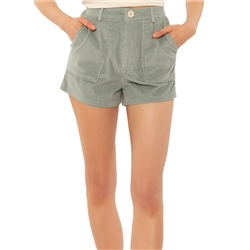 Amuse Society Joey Woven Shorts - Slate