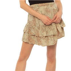 Amuse Society Loren Woven Mini Skirt - Natural