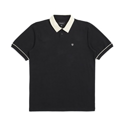 Brixton Carlos Polo Knit - Black & Dove