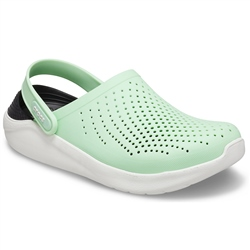 Crocs LiteRide Clog - Neo Mint & Almost White
