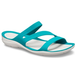 Crocs Swiftwater Sandal - Juniper & Pearl White