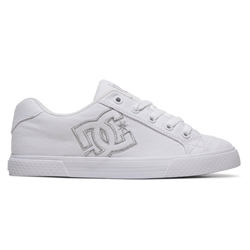 DC Shoes Chelsea TX Shoe - White & Silver