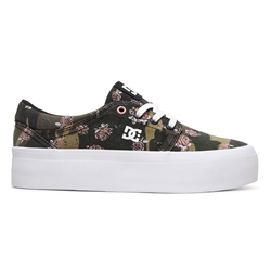 DC Shoes Trase Platform TX SE Shoe - Camo White