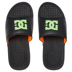DC Shoes Bolsa Flip Flop - Black & Green & Orange