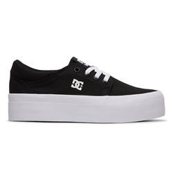 DC Shoes Trase Platform TX Shoe - Black & White