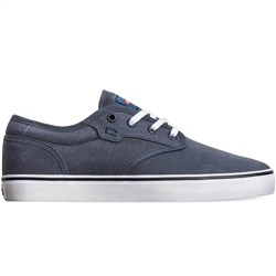 Globe Motley Shoes - Blue Canvas & White