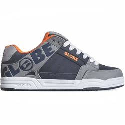 Globe Tilt Shoes - Grey, Navy & Orange