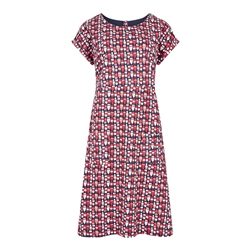 Weird Fish Tallahassee Dress - Radical Red