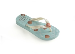 Havaianas Fantasy Flip Flops - Ice Blue & Mermaid