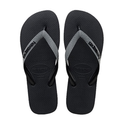 Havaianas Top Mix Flip Flops - Black & Grey
