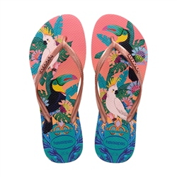 Havaianas Slim Tropical Flip Flops - Silk Rose