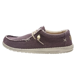 Hey Dude Shoes Wally Natural Shoes - Burgundy