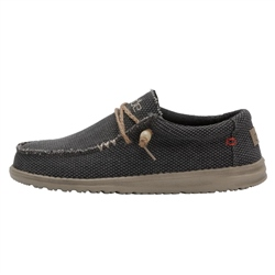 Hey Dude Shoes Wally Natural Shoes - Off Black