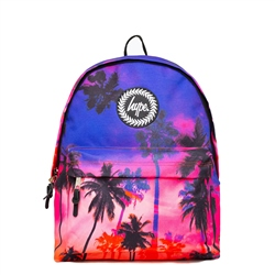 Hype Palm Backpack - Purple & Palms