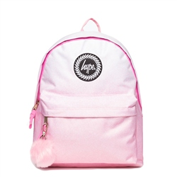 Hype Speckle Backpack Fade - Pink & White