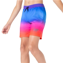 Hype Red Rainbow Fade Shorts - Red & Blue