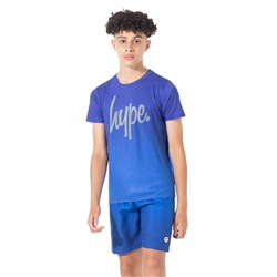 Hype Speckle Fade T-Shirt - Blue