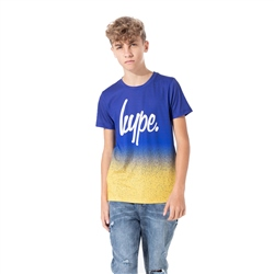 Hype Speckle Fade T-Shirt - Blue & Mango