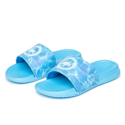 Hype Pool Crest Slider Flip Flops - Blue