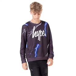 Hype Lightning Sweatshirt - Black