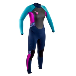 Gul Junior Response FL 3/2mm Back Zip Wetsuit - Navy & Rouge (2020)