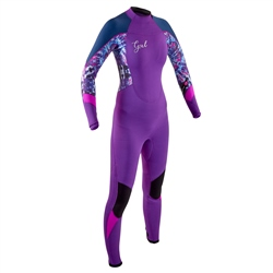 Gul Junior Response 4/3mm Back Zip Wetsuit - Ultraviolet Tie Dye (2020)