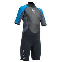 Gul Junior G-Force Shorty Wetsuit - Black & Zafer (2020)