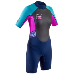 Gul Junior Response Shorty Wetsuit - Navy & Rouge (2020)
