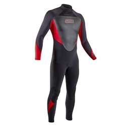 Gul Response 3/2mm Back Zip Wetsuit - Black & Red (2020)