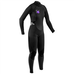 Gul Womens Response 3/2mm Back Zip Wetsuit - Black