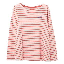 Joules Harbour Light Emblem T-Shirt - Pink & Red