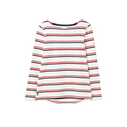 Joules Harbour T-Shirt - Cream Red Blue Stripe