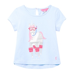 Joules Maggie T-Shirt - Blue Sea Horse