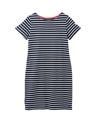 Joules Womens Riviera Long Dress - Navy & Cream