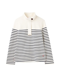 Joules Saunton Sweatshirt - Cream Navy Stripe