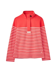 Joules Saunton Sweatshirt - Red Cream Stripe