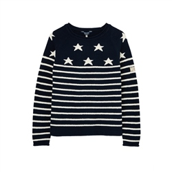 Joules Seaport Jumper - Navy Cream Star