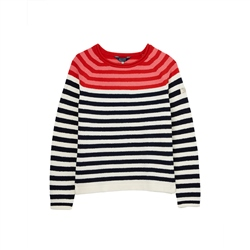 Joules Seaport Jumper - Red Multi Stripe