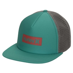 Hurley One & Only Square Trucker Cap - Neptune Green