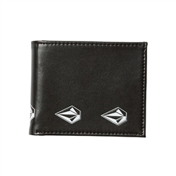Volcom Empty PU Wallet - New Black